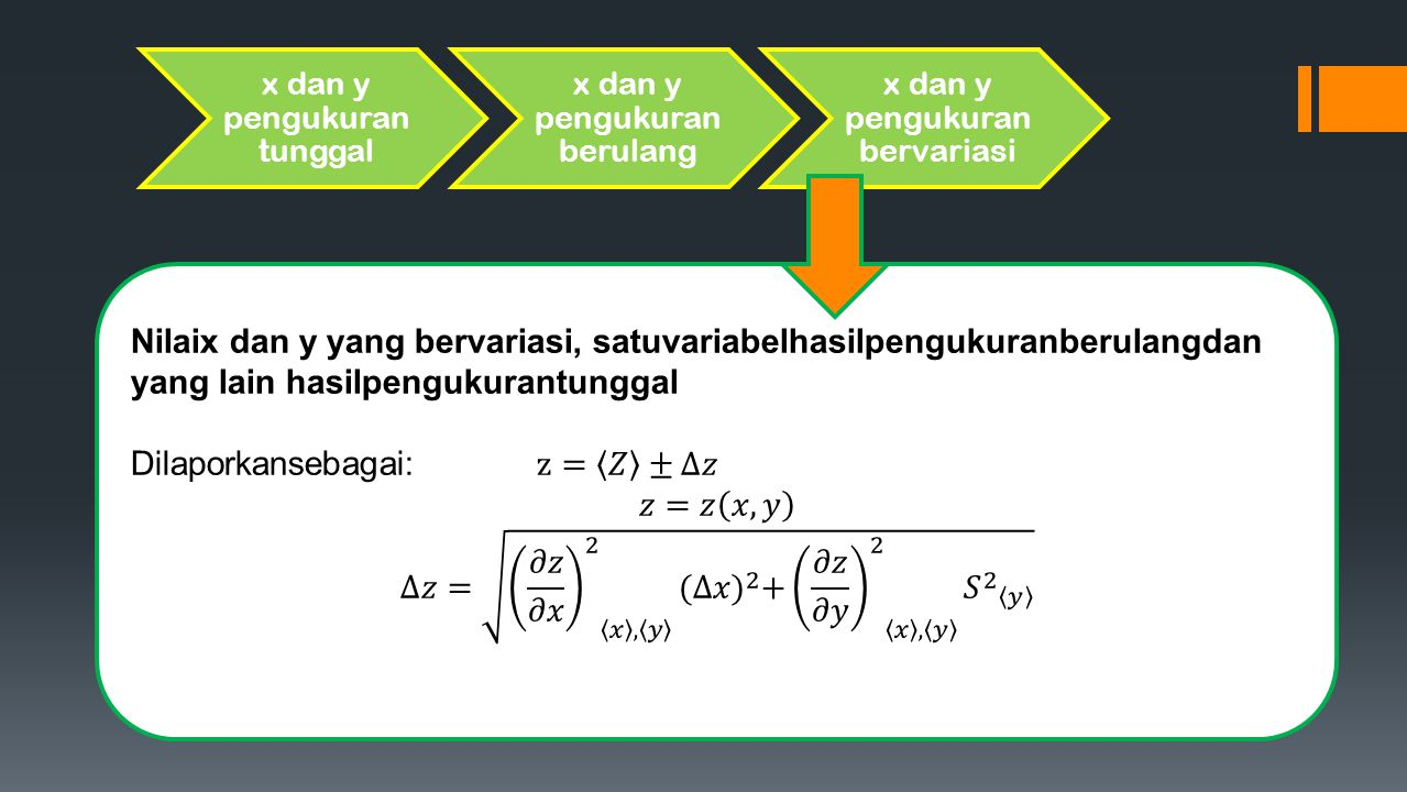 x dan y pengukuran tunggal x dan y pengukuran berulang x dan y pengukuran bervariasi