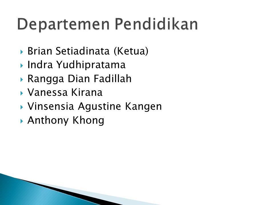  Brian Setiadinata (Ketua)  Indra Yudhipratama  Rangga Dian Fadillah  Vanessa Kirana  Vinsensia Agustine Kangen  Anthony Khong
