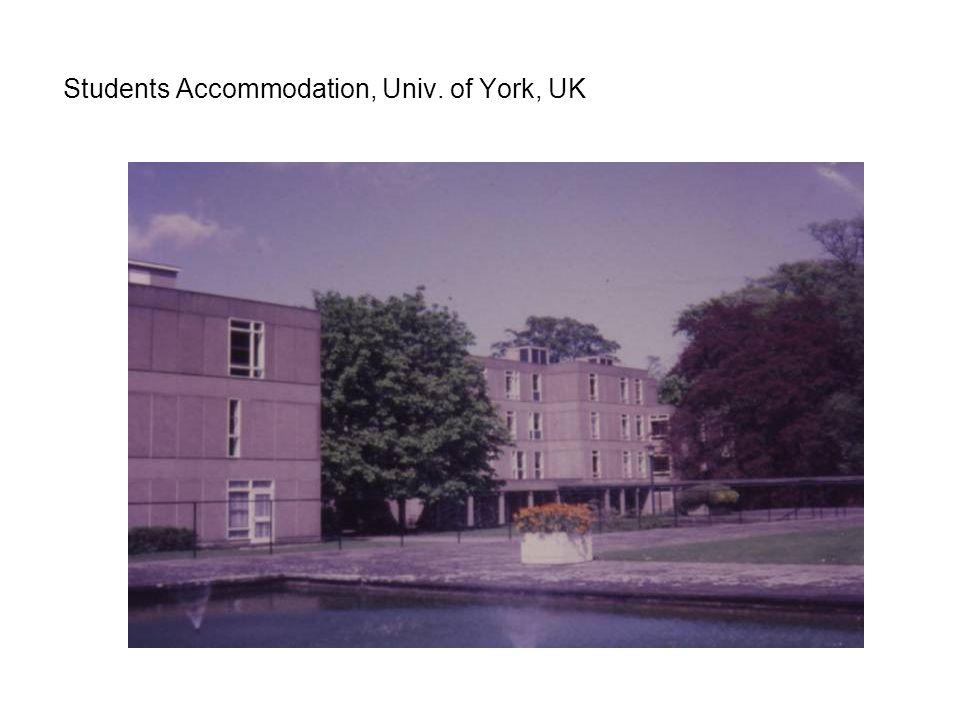 Students Accommodation, Univ. of York, UK