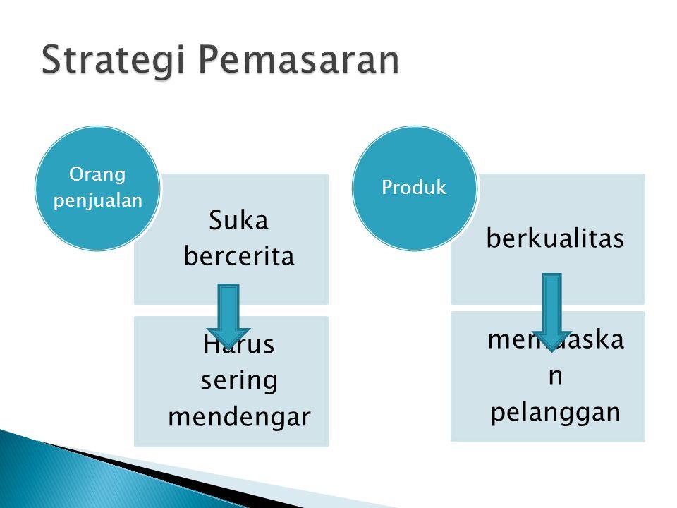 Strategy Features Selling Benefits Selling Solutions Selling Target pangsa pasar kelas menengah ke atas yaitu para eksekutif berusia 25-40 tahun Konsumen yang pernah merasakan pengalaman hidup di luar negeri atau mereka yang bergaya hidup kosmopolitan Positioning