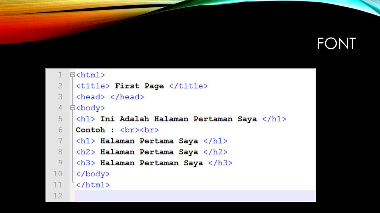 TABEL PADA HTML