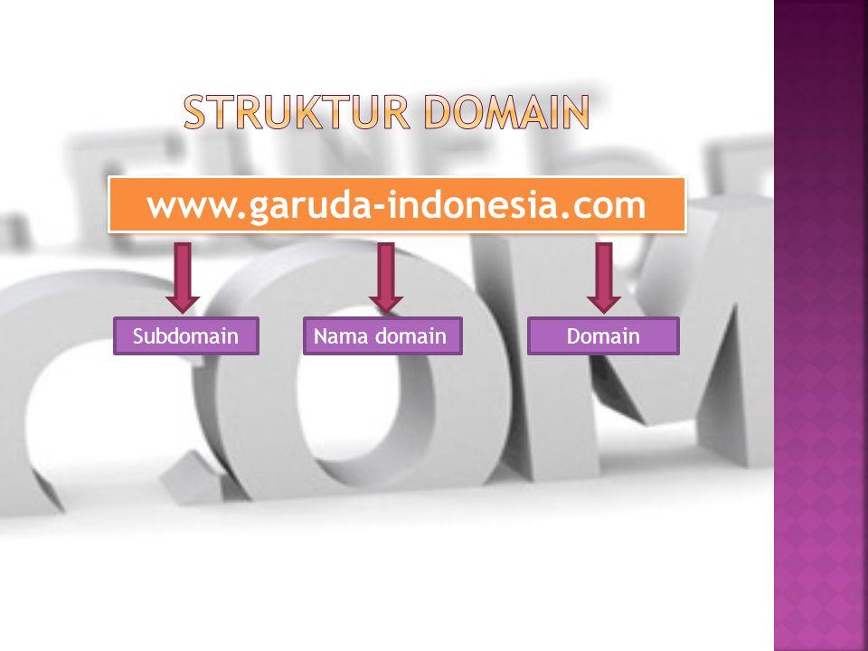 www.garuda-indonesia.com SubdomainNama domainDomain