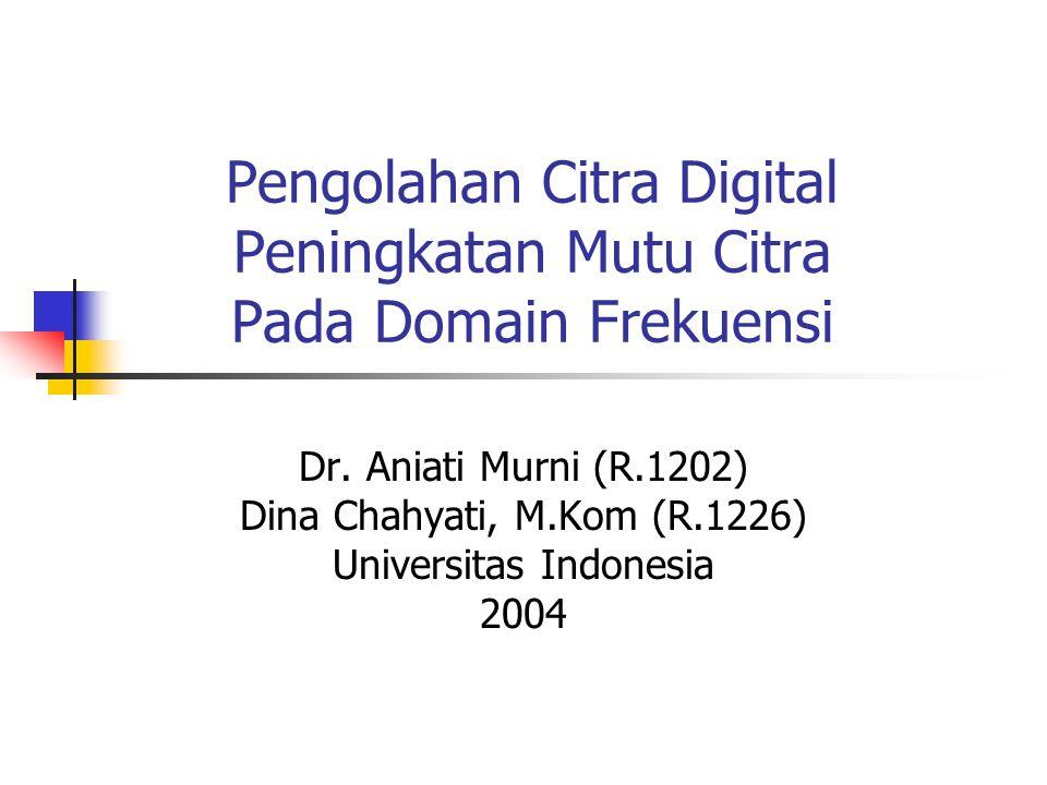 Pengolahan Citra Digital Peningkatan Mutu Citra Pada Domain Frekuensi Dr. Aniati Murni (R.1202) Dina Chahyati, M.Kom (R.1226) Universitas Indonesia 20