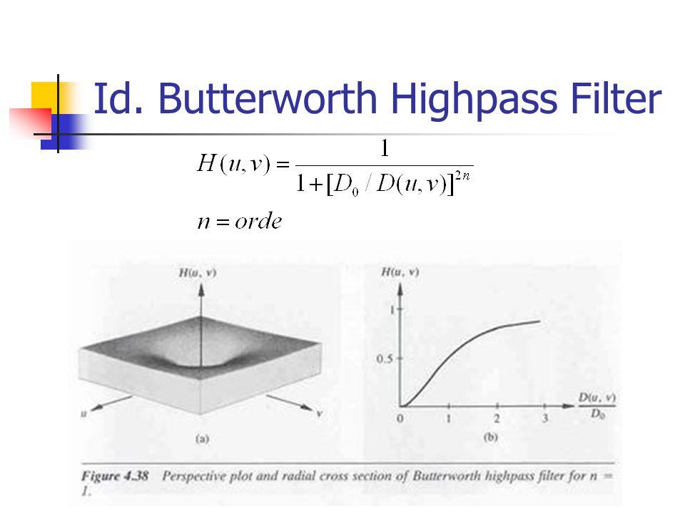 Id. Butterworth Highpass Filter