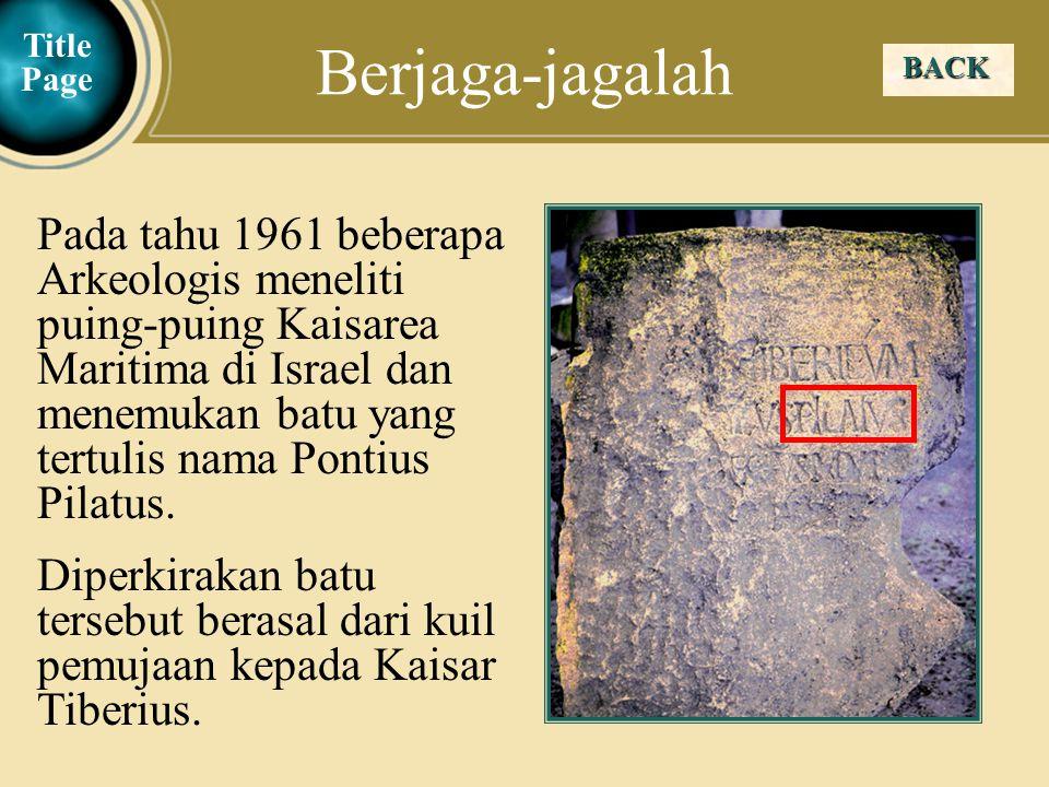 Judea Galilee ChildhoodPereaJerusalem  Tuhan Yesus memberikan perumpamaan tentang pohon Ara yang tidak berbuah selama 3 tahun.