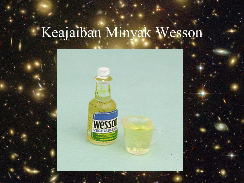 Keajaiban Minyak Wesson