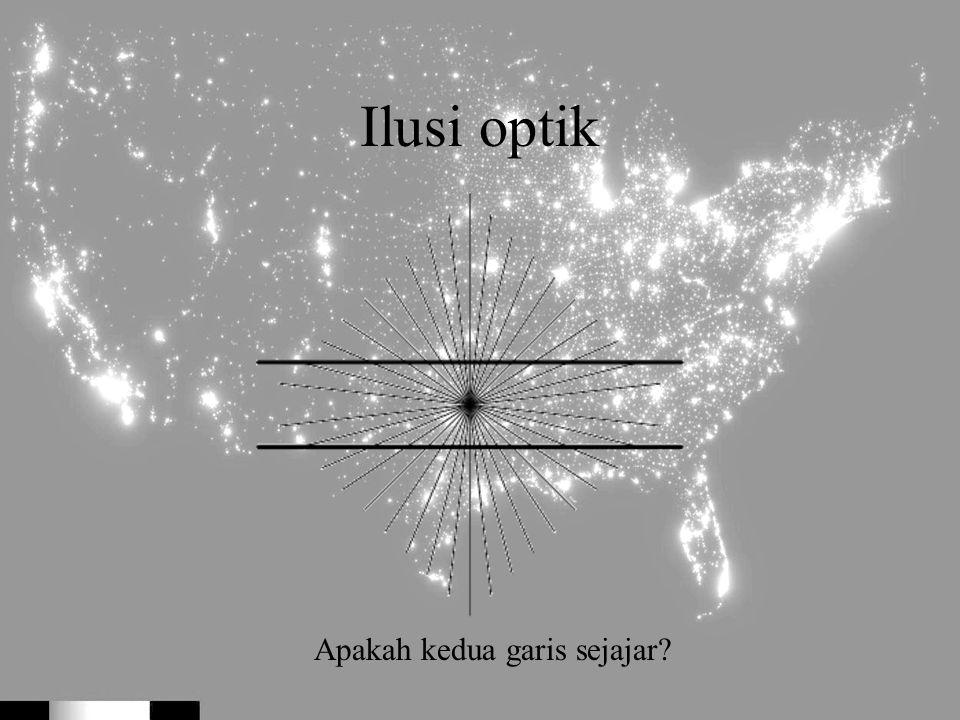 Ilusi optik Apakah kedua garis sejajar?