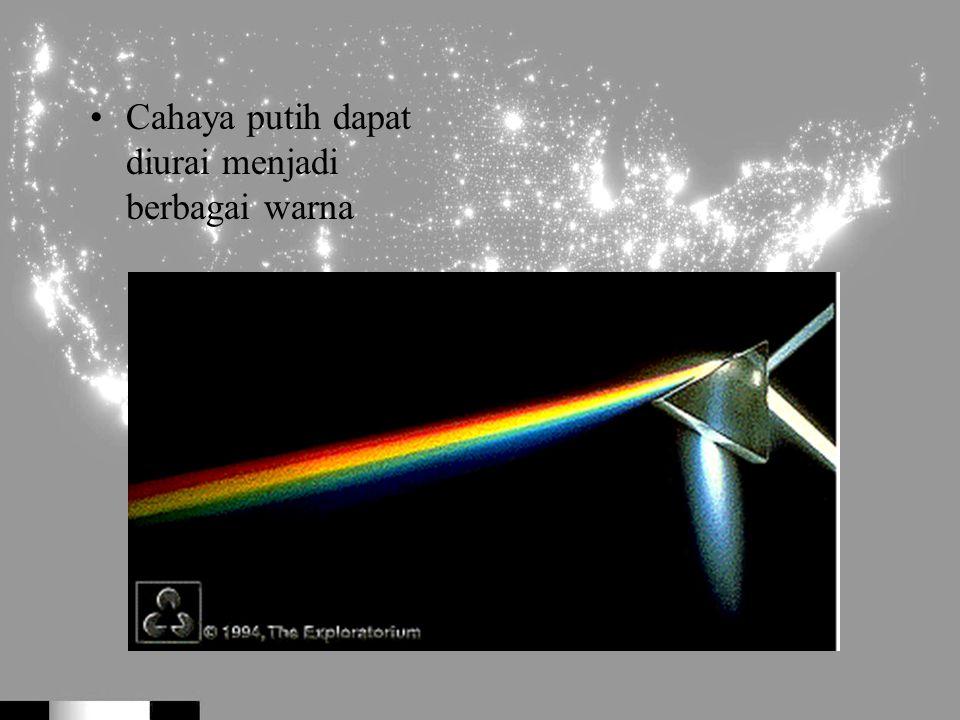 Cahaya putih dapat diurai menjadi berbagai warna