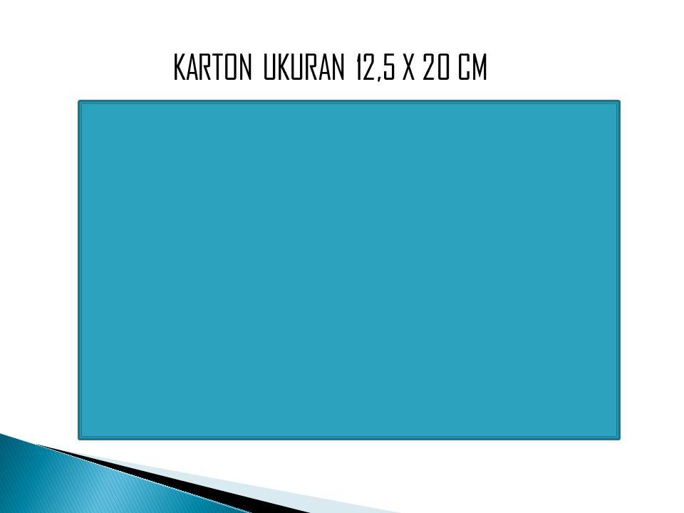KARTON UKURAN 12,5 X 20 CM