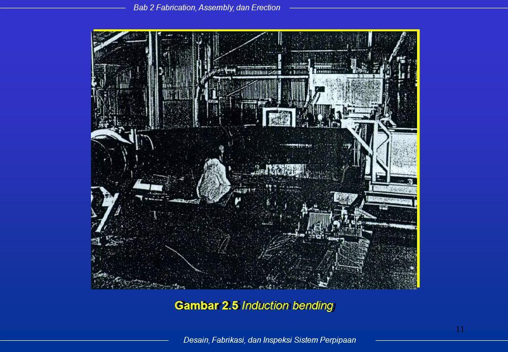 Bab 2 Fabrication, Assembly, dan Erection Desain, Fabrikasi, dan Inspeksi Sistem Perpipaan 11 Gambar 2.5 Induction bending