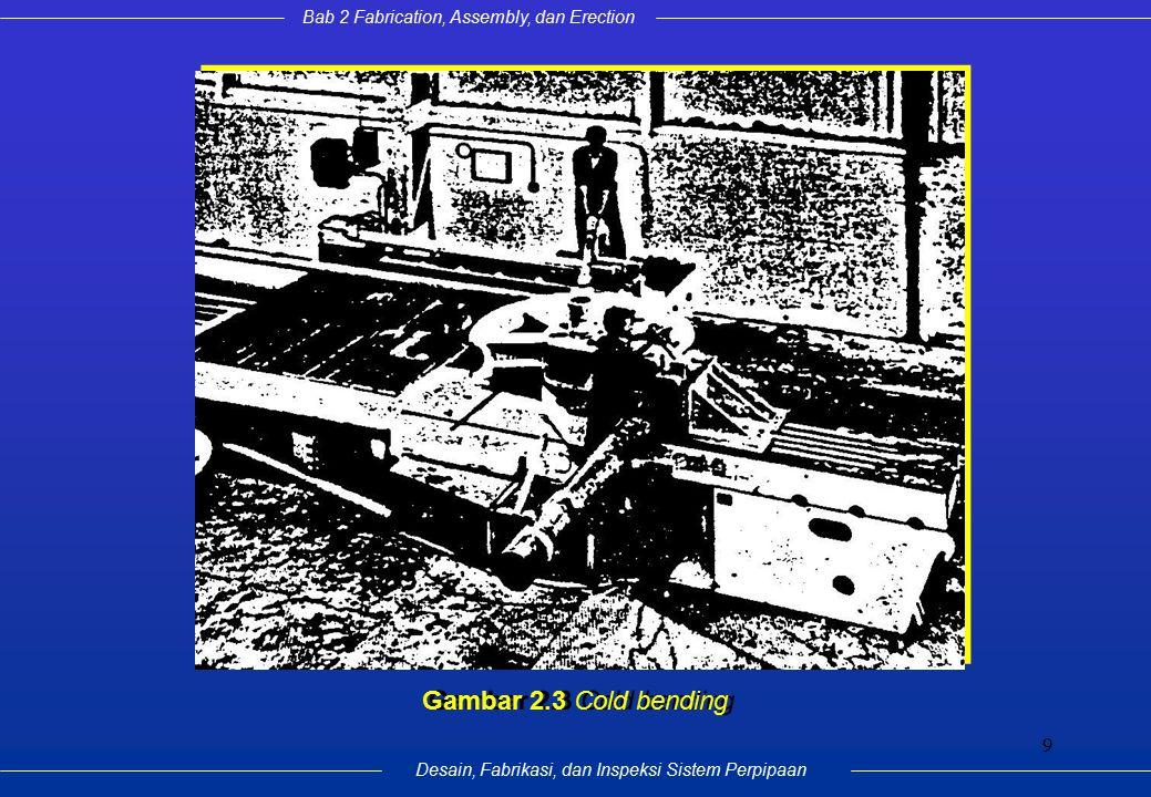 Bab 2 Fabrication, Assembly, dan Erection Desain, Fabrikasi, dan Inspeksi Sistem Perpipaan 9 Gambar 2.3 Cold bending