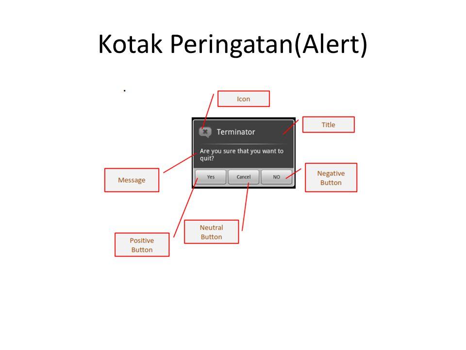 Kotak Peringatan(Alert)