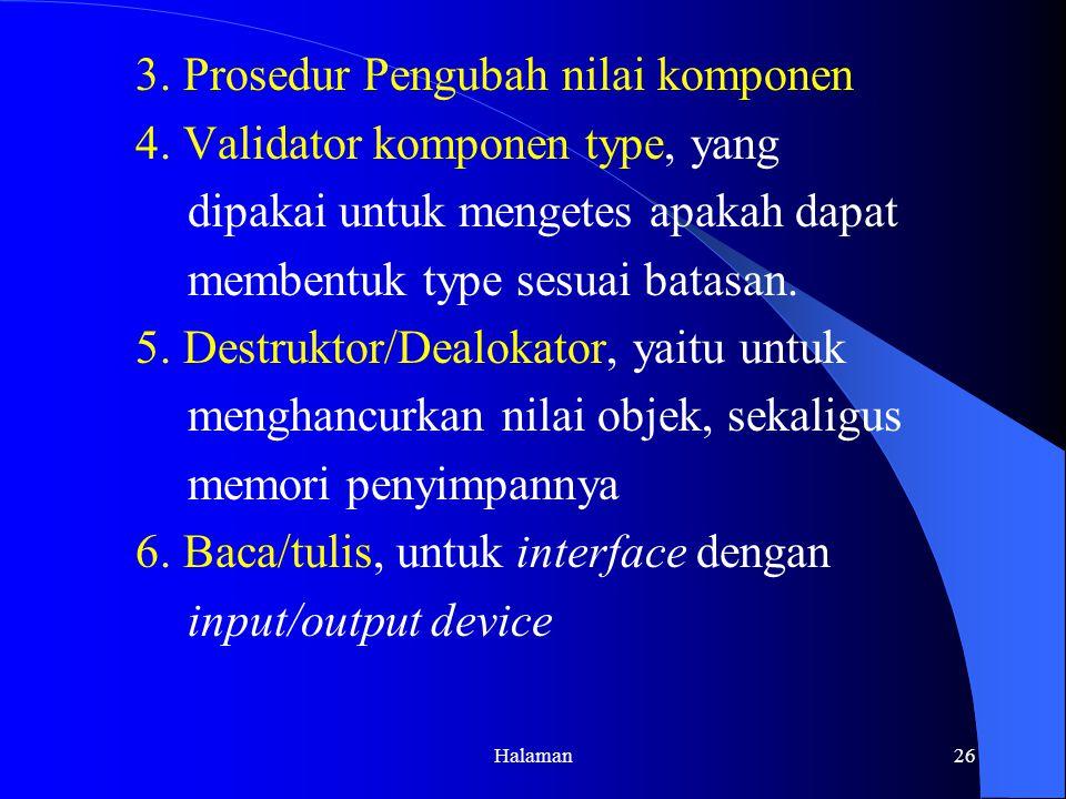 Halaman26 3.Prosedur Pengubah nilai komponen 4.