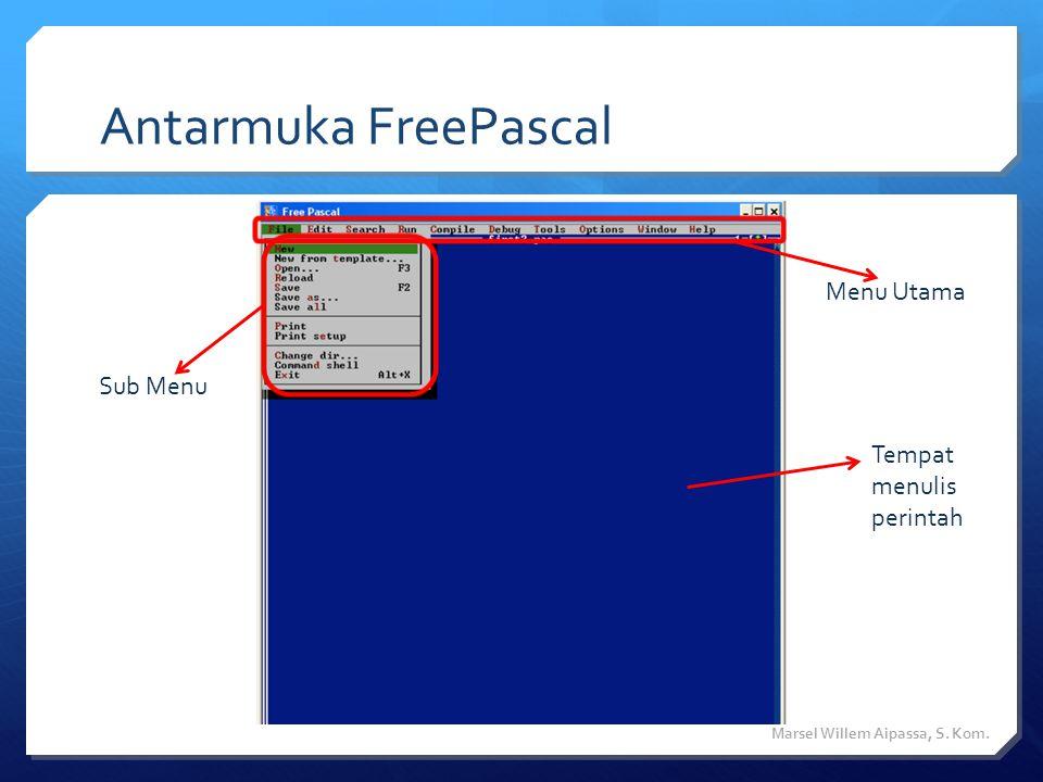 Beberapa aturan dalam penulisan program (1)  Pascal bersifat incasesensitive, artinya huruf besar dan huruf kecil dianggap sama oleh kompiler.