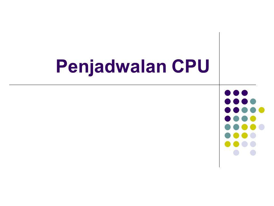 FCFS (Cont.) Diketahui proses yang tiba adalah P 2, P 3, P 1.