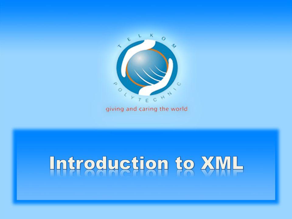 Dokumen XML digunakan untuk mendeskripsikan sendiri dokumen tersebut dengan sintaks yang sederhana Contoh: Tove Jani Reminder Don t forget me this weekend!