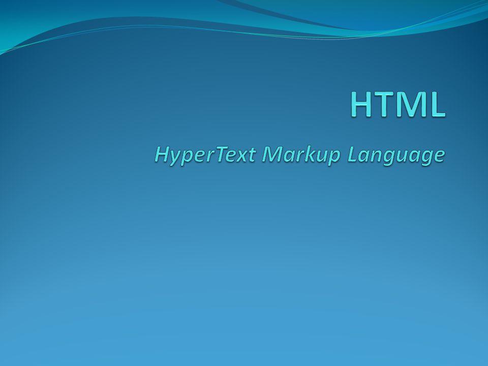 HTML singkatan dari HyperText Markup Language menentukan tampilan suatu teks dan tingkat kepentingan dari teks tersebut dalam suatu dokumen.
