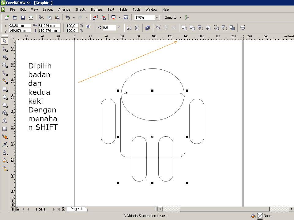 Klik kiri objek - drag ke kanan - tahan ctrl - klik kanan untuk mengcopy - lepas drag & lepas ctrl