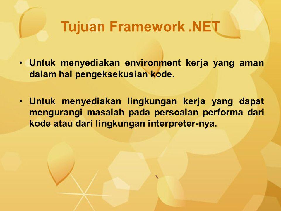 Untuk menyediakan environment kerja yang aman dalam hal pengeksekusian kode. Untuk menyediakan lingkungan kerja yang dapat mengurangi masalah pada per