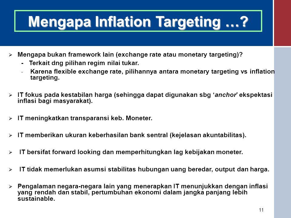 11 Mengapa Inflation Targeting ….