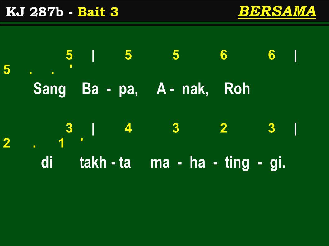 5 | 5 5 6 6 | 5.. Sang Ba - pa, A - nak, Roh 3 | 4 3 2 3 | 2.
