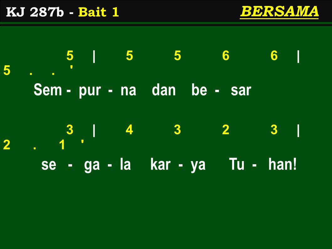 2 | 2 2 3 3 | 2.. Di - b'ri - Nya ki - ta - pun 2 | 3 5 5 4/ | 5..