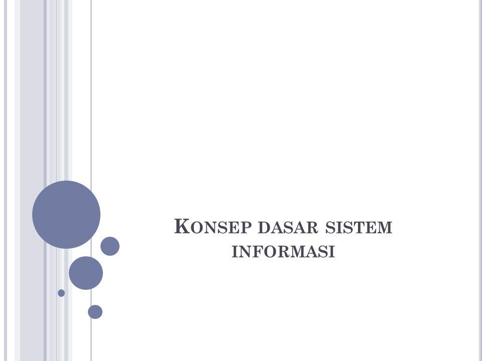 S ISTEM Gordon B Davis (1985) : Sebuah sistem terdiri dari bagian-bagian yang saling berkaitan yang beroperasi bersama untuk mencapai beberapa sasaran atau tujuan .
