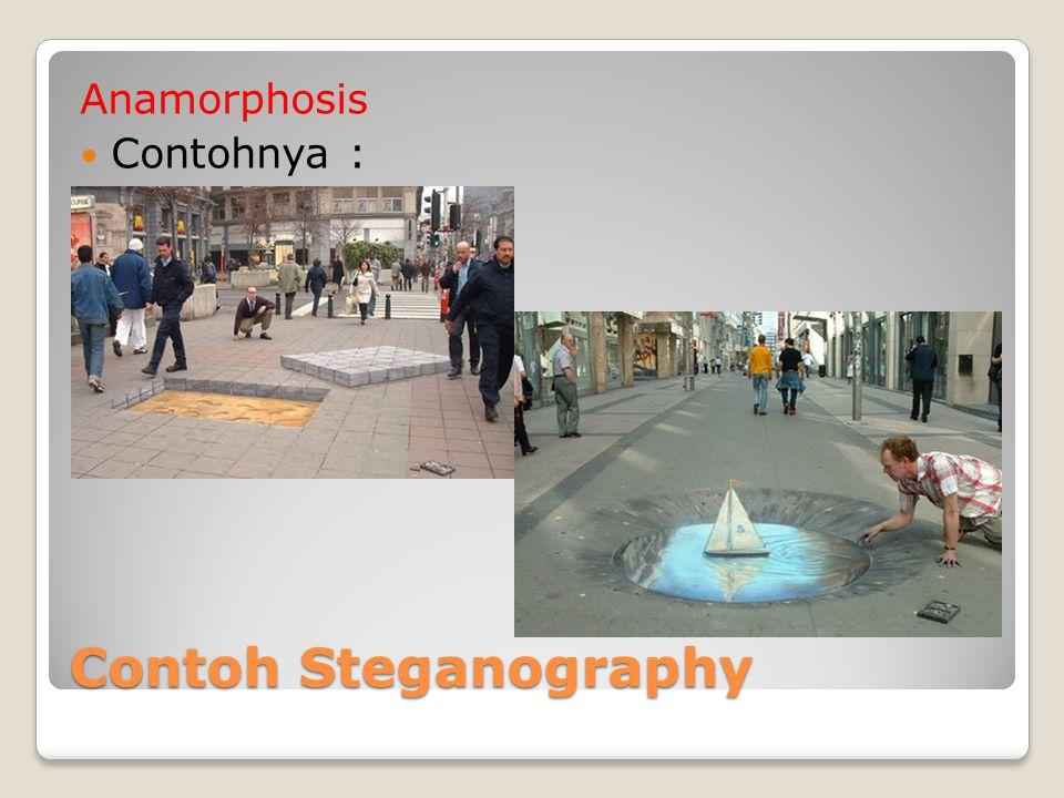 Contoh Steganography Anamorphosis Contohnya :