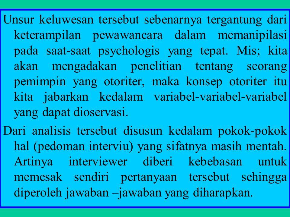 6).Memberikan sugesti yang halus, tetapi tidak sampai mempengaruhi jawaban responden 7).