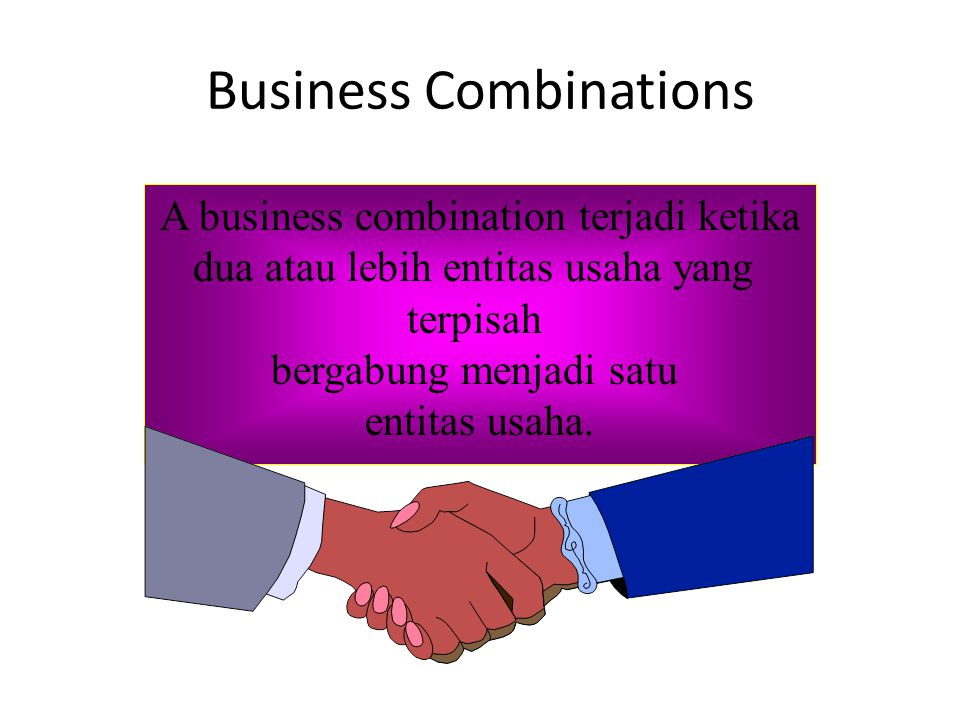 Penggabungan BU dianggap sebagai pembelian perusahaan yang terdiri atas sekelompok aktiva dan utang.