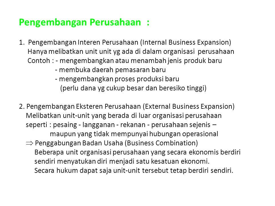 Pengembangan Perusahaan : 1.