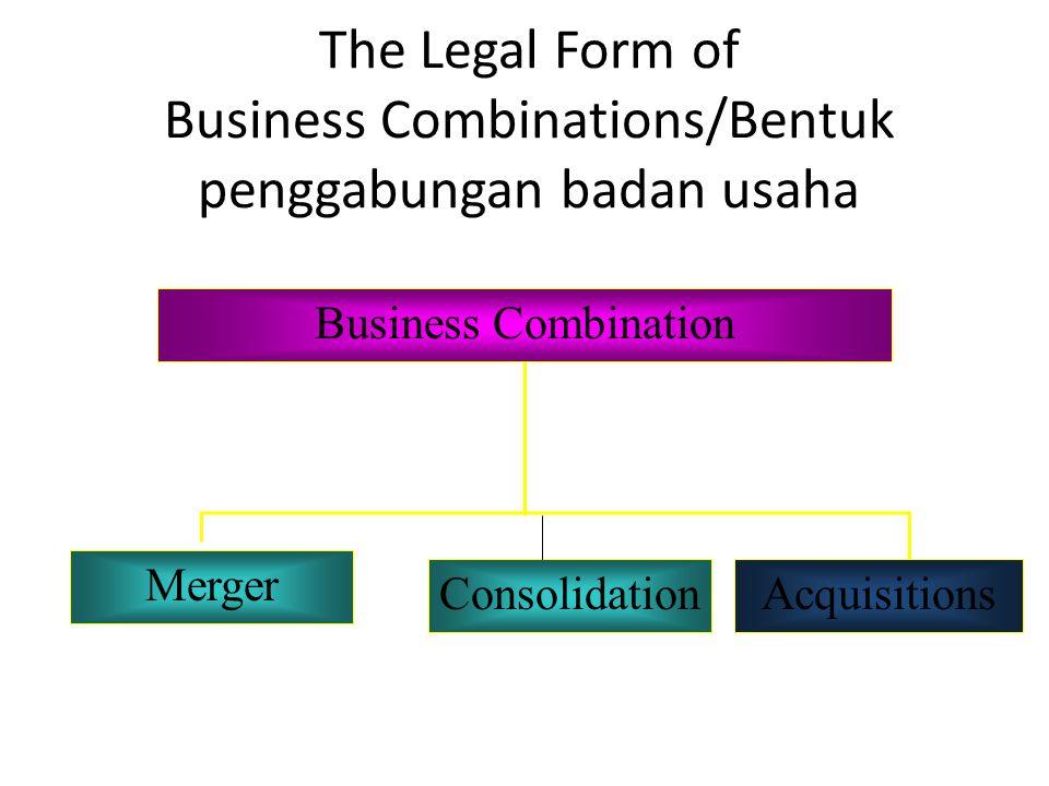 The Legal Form of Business Combinations/Bentuk penggabungan badan usaha Business Combination Merger AcquisitionsConsolidation