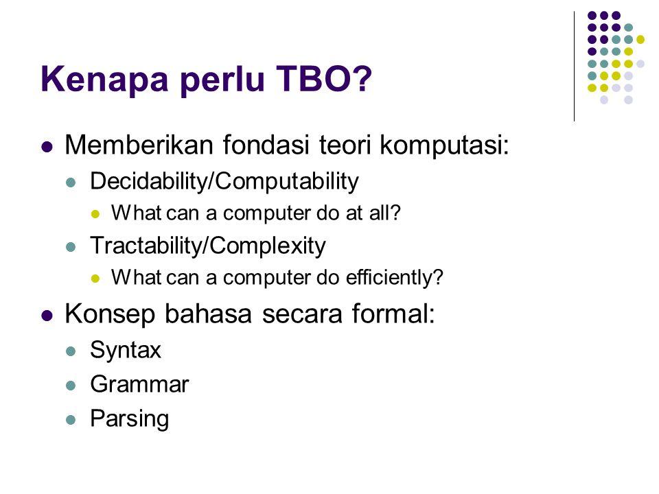 Kenapa perlu TBO.