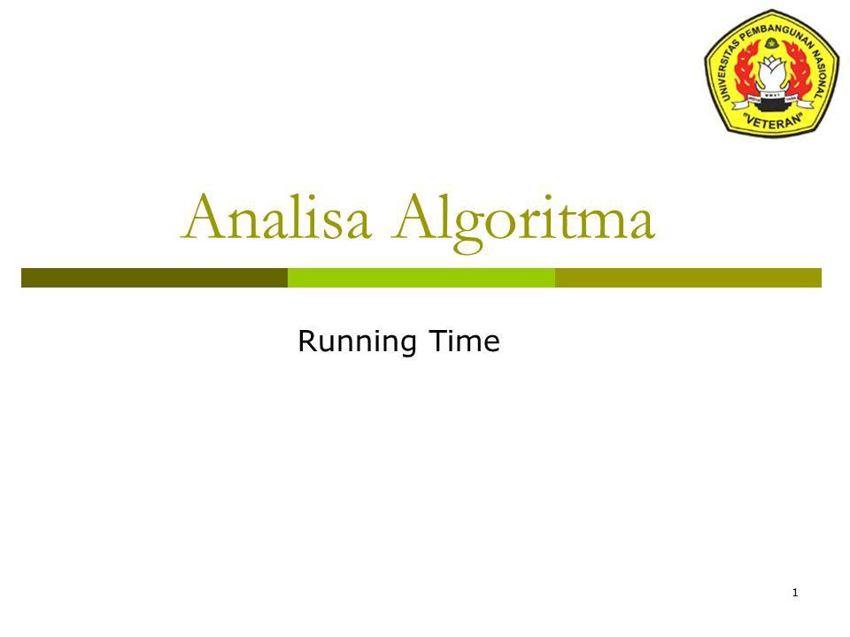 1 Analisa Algoritma Running Time