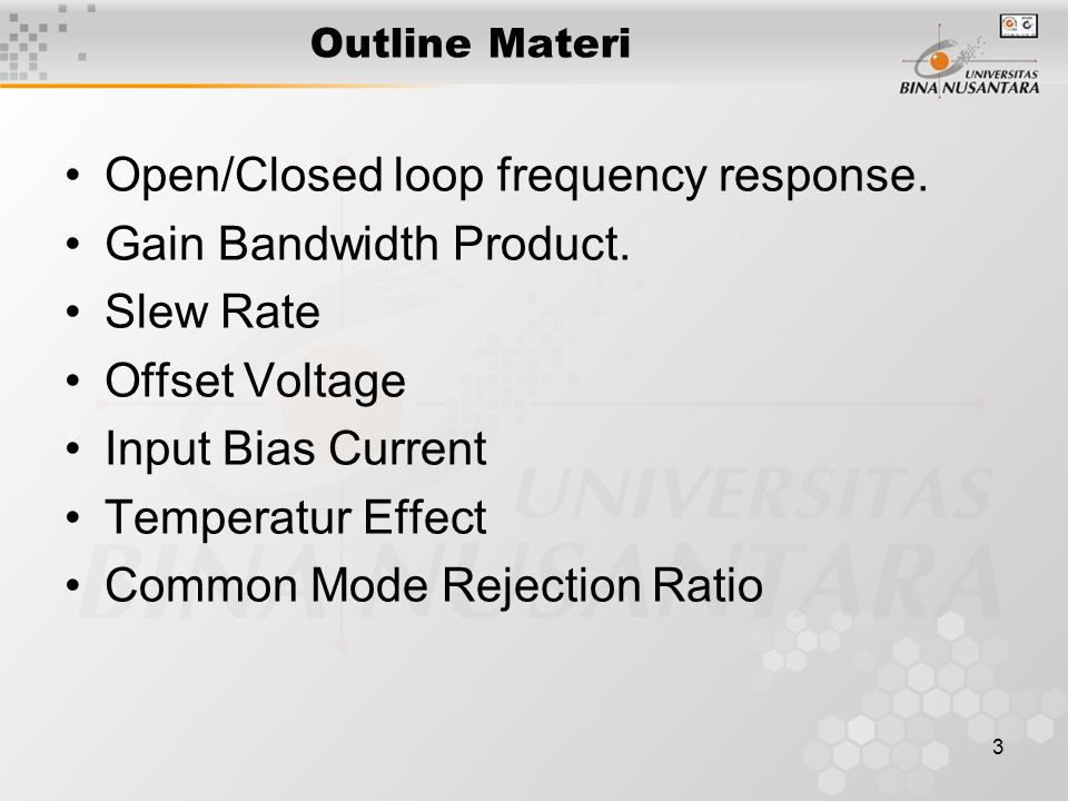 4 Open Dan Closed Loop Frekuensi respon dari open loop gain : fT = fPD.Ao unity gain bandwidth
