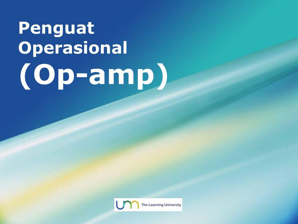 Menu Utama Referensi Contoh soal Aplikasi Op-amp Karakteristik Ideal Op-amp Pengertian Op-amp