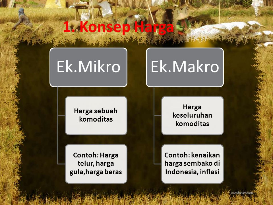 Perbedaan Ekonomi Mikro dan Makro Dilihat dari 3 aspek : 1.Konsep Harga 2.Analisis kajian/Ruang Lingkup 3.Tujuan Analisis