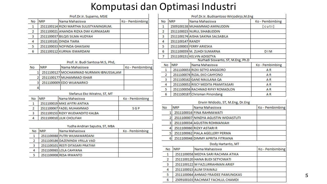 Komputasi dan Optimasi Industri 5
