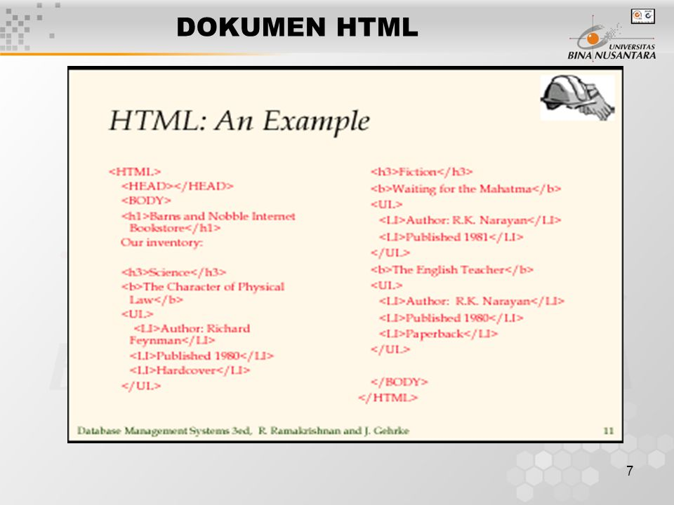 8 DOKUMEN XML Extensible Markup Language A self-describing, hierachichal data model Standard Generalized Markup Language / SGML dan HTML Extensible Style Language / XSL
