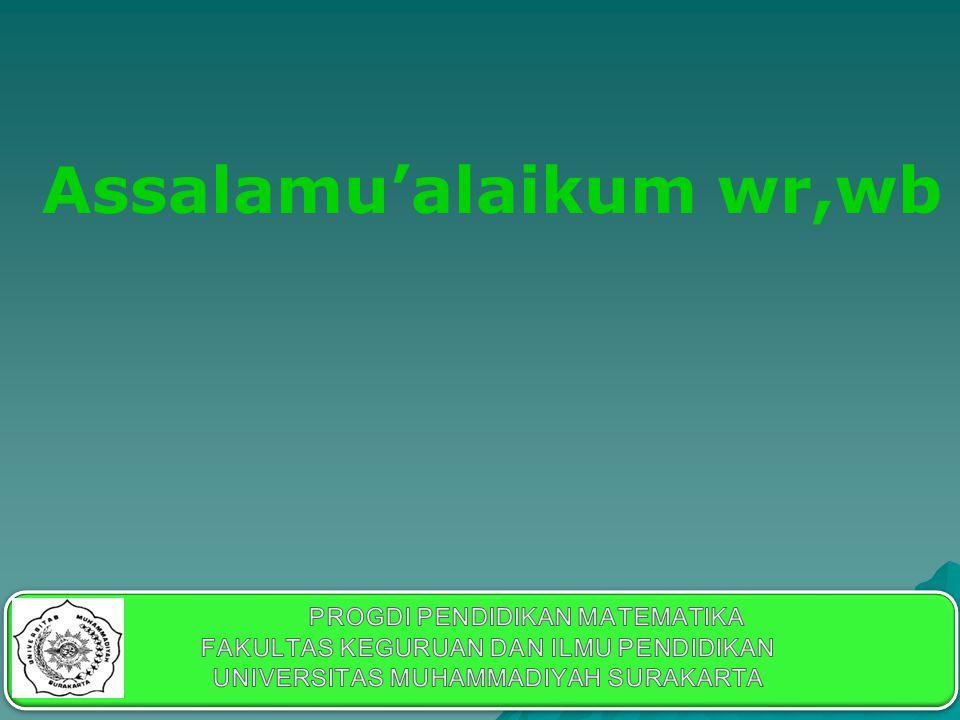 Assalamu'alaikum wr,wb