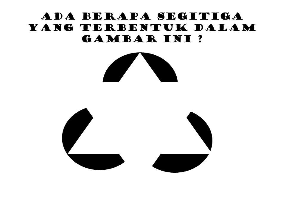 Ada berapa segitiga yang terbentuk dalam gambar ini ?