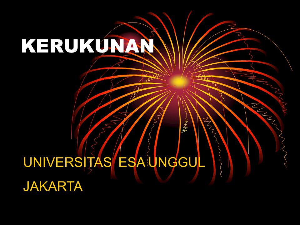 KERUKUNAN UNIVERSITAS ESA UNGGUL JAKARTA