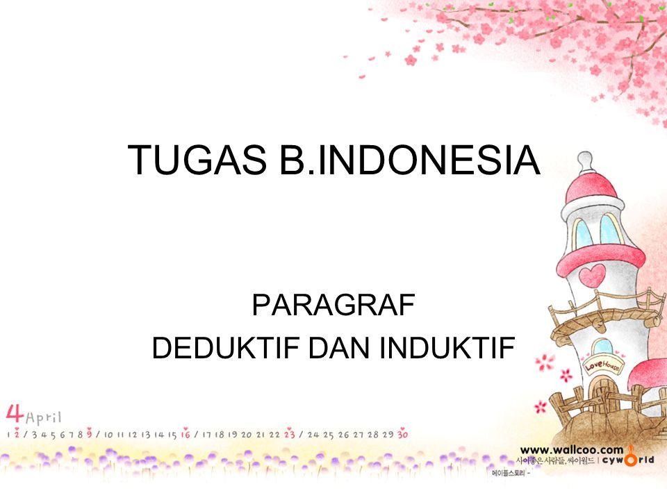 TUGAS B.INDONESIA PARAGRAF DEDUKTIF DAN INDUKTIF
