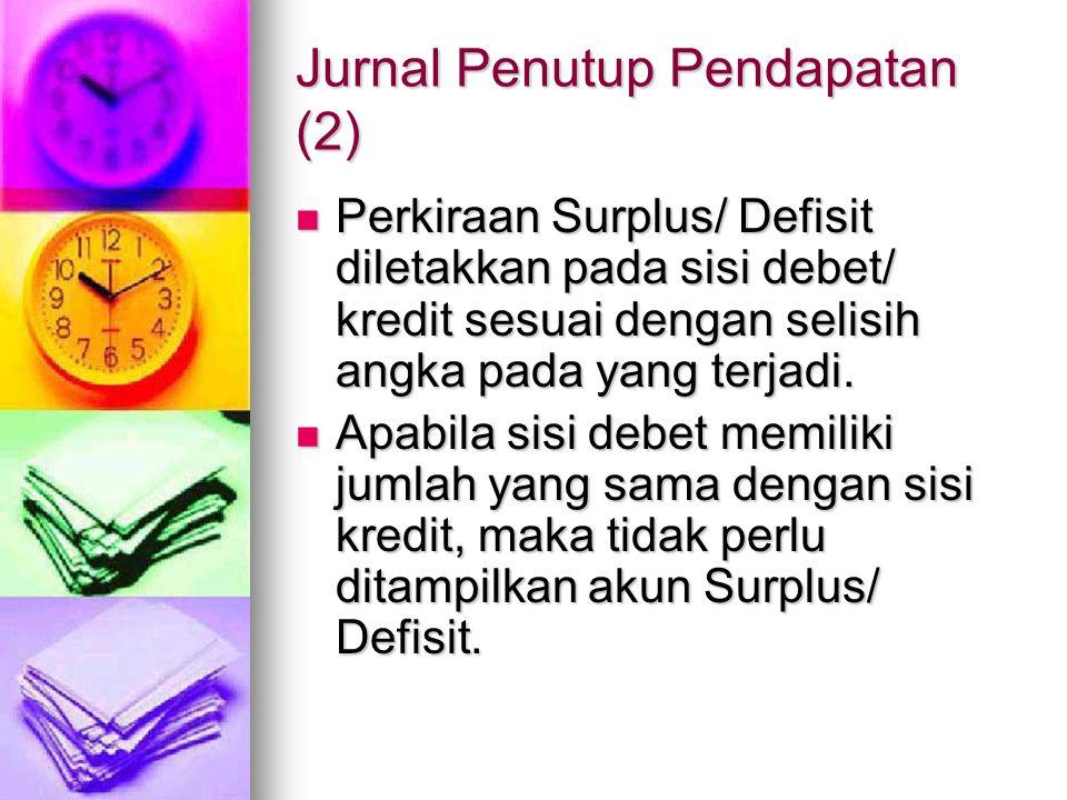 Jurnal Penutup Belanja (1) Jurnal Penutup Belanja Pegawai (Dr).