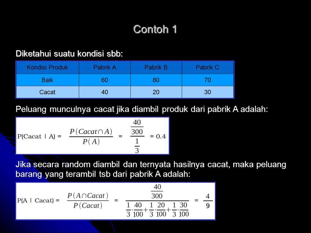 Contoh 2   Terdapat dua hipotesis: 1.1.Pasien mengidap kanker 2.