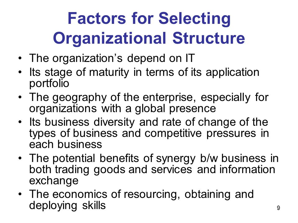 30 Aspects Required for Distributing IS/IT Decision Making Content – the decision areas that are being managed (Table 8.4) Authority – the individuals or groups that have the power actually to make decisions in the various areas Responsibilities – the individuals or bodies responsible for day-to-day execution in decision areas.