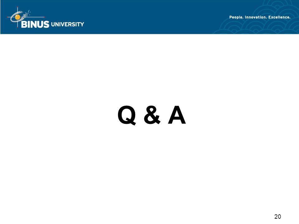 Q & A 20
