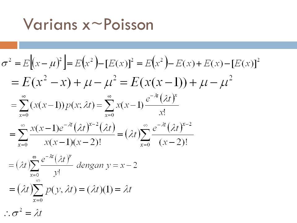 Varians x~Poisson