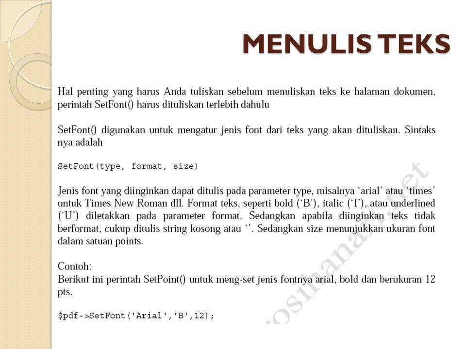 MENULIS TEKS
