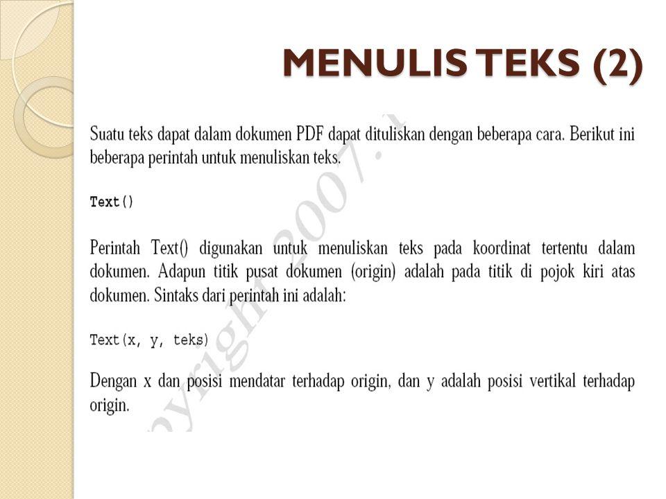 MENULIS TEKS (2)